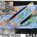 Surf Board Mosaic - Submitted by Sherry - This recycled glass mosaic with a sea turtle design was created for a bathroom remodel.