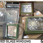 Restored Leaded Glass Windows - Submitted by Sue - The craftsmanship of these old leaded glass windows were worth taking the time to save.