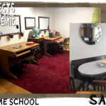 Home School - Submitted by Sara - Plans changed and a home schooling set up was created with secondhand items.