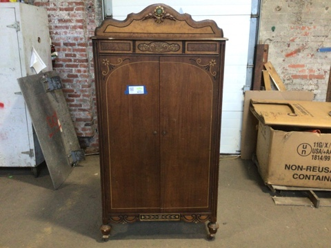 Cedar Lined Engraved Armoire