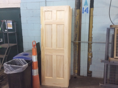 Jeld-Wen Surplus Solid Pine Unfinished 6 Panel Door Slab - 28x80