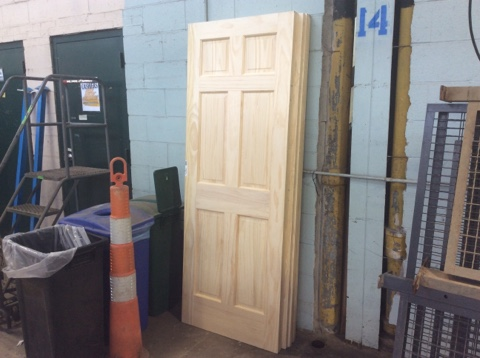 Jeld-Wen Surplus Solid Pine Unfinished 6 Panel Door Slab - 30x80